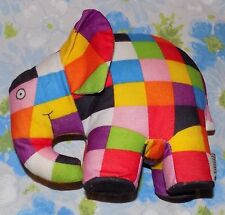 "Crocodile Creek 7"" tall Patchwork Elmer the Elephant Plush Doll"