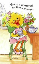 Suzy's Zoo Mother's Day Greeting Card - Suzy Ducken with a Tea Pot