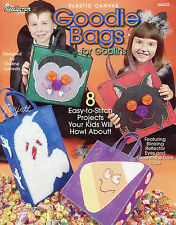 Goodie Bags for Goblins ~ Trick-or-Treat Totes plastic canvas patterns OOP new