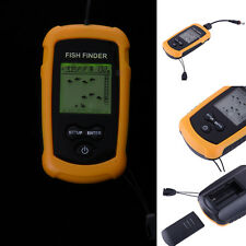 Portable Fish Finder With Sonar Sensor Alarm Radar Fishing Depth Probe Detector