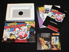 SNES Super Nintendo KIRBY'S DREAM COURSE BOX, INSERTS LOT. NO GAME FREE S&H