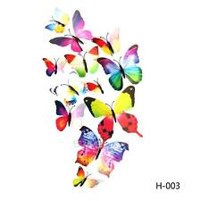 12 pcs 3D Colorful Butterfly Wall Sticker Stickers Art Home Decor DIY Room Decor
