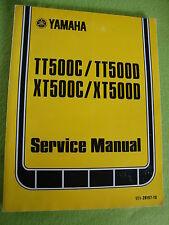 1976-1977 Genuine Yamaha XT500 TT500 Service Manual OEM LIT-11616-00-55S N-O-S!!