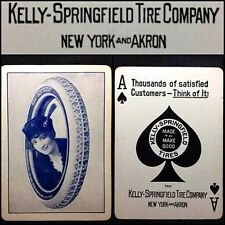 c1912 Kelly Springfield / Goodyear Playing Cards Car Tire Merchant Poker Deck