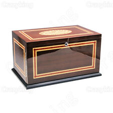 Romeo Y Juliet Top Cedar Wood Cigar Humidor With 3 Drawer Hygrometer Humidifier