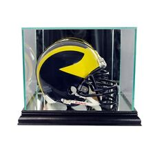 New Glass Mini Helmet Display Case NFL NCAA Black Molding FREE SHIPPING Made US
