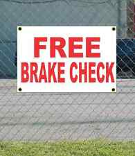 2x3 FREE BRAKE CHECK Red & White Banner Sign NEW Discount Size & Price