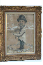 Maler mit Geige, Engel, Boulanger, Auxey, 19.Jahrh.