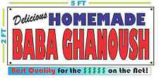 HOMEMADE BABA GHANOUSH BANNER Sign NEW Larger Size Best Quality for the $$$