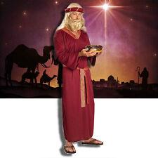 BIBLICAL WISE MAN COSTUME ADULT NATIVITY MANGER MAGI BURGUNDY ROBE CHRISTMAS MEN