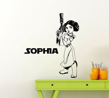 Custom Name Star Wars Wall Decal Princess Leia Personalized Vinyl Sticker 45sw