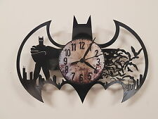 Batman vinyl record clock home decor gift