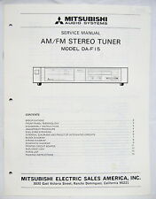 MITSUBISHI DA-F15 AM/FM TUNER Original SERVICE MANUAL