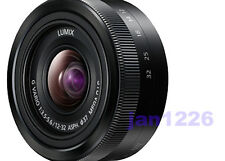 NEW PANASONIC LUMIX G VARIO 12-32mm F/3.5-5.6 ASPH Lens Black Micro 4/3 Mount