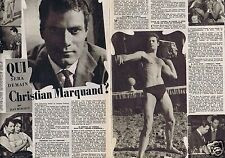 Coupure de presse Clipping 1957 Christian Marquand  (2 pages)