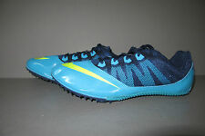 NIKE Zoom Rival S 7 Track Field Spikes Cleats Gamma Blue/Volt 616313-474 Sz 11