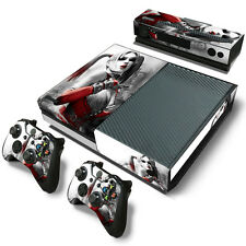 Xbox One Console Skin Decal Sticker Harley Quinn + 2 Controller & Kinect Skins