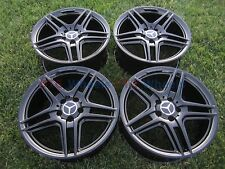 "18"" MERCEDES BENZ E350 C250 C350 E class BLACK 18 AMG OEM WHEELS RIMS FACTORY"
