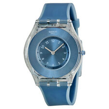 Swatch Dive In Blue Dial Blue Silicone Ladies Watch SFS103
