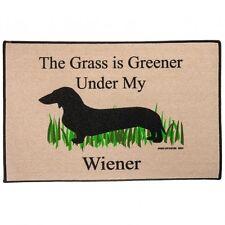 High Cotton The Grass is Greener Under My Wiener Doormat Rug Dachshund Dog Gift