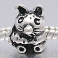 SILVER PLATED EASTER BUNNY #2 SPACER BEAD CHARM ** SEE MY STORE FOR MORE