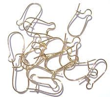 1436FN Earwire Hook Earring Wire Goldtone Gold ptd Brass Kidney, 18mm,  100 Qty