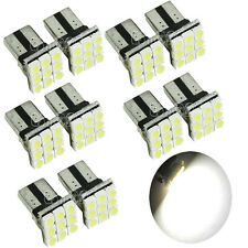 10 X T10 LED 12 SMD White Car License Plate Light Tail Bulb 2825 192 194 168 W5W