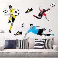 3D PLAY FOOTBALL SOCCER WALLPAPER ART STICKER VINYL DECAL MURAL STICKER