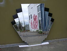 Wall Mirror Art Deco W/Black Bevilled Acc 1000 x900m $325 NOW $300