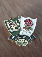 PINS BADGE FINAL AUSTRALIA Vs ENGLAND RUGBY WORLD CUP 1991 - TWICKENHAM