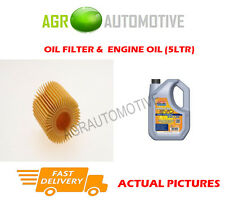 DIESEL OIL FILTER + LL 5W30 ENGINE OIL FOR TOYOTA COROLLA 1.4 90 BHP 2013-