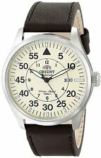 Orient FER2A005Y Men's Flight Leather Band Military Beige Dial  Automatic Watch