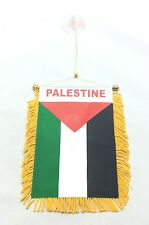 "Palestine Flag Mini Banner 4"" x 6"" w Suction Car Truck Window Palestinian"