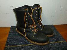 "Carolina Steel Toe 8"" BLack Insulated Waterproof Work Boots 10 2E Very Good!"