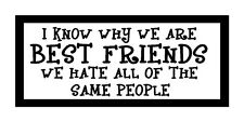 I Know Why We Are Best Friends, Funny Unique Magnet for Fridge or Car