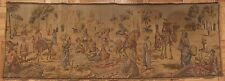 "Vintage tapestry middle eastern/North African market scene 20""x56"""