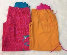 Zumba Fitness Large Feelin It Cargo Pants Lot of Two Pink Orange Workout Dance A
