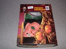 Vintage 1987 FREDDY KRUEGER Vinyl Costume & Mask IN BOX - Collegeville HALLOWEEN