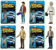 Back to the Future Zurück in die Zukunft 4 Figuren Set Reaction 3 3/4 Inch Funko