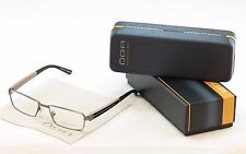 OGA Morel 74110 GN023 Eyeglasses Dark Gray Plastic Metal France Frame 53-17-140