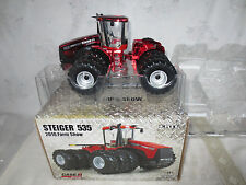 ERTL 1/32 CASE IH STEIGER 535 FARM TOY TRACTOR 2010 FARM SHOW CHASER RED CHROME