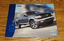 Original 2003 Ford Truck F-150 Sales Brochure 03 Pickup