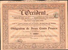 L'OCCIDENT, Assurances Mutuelles contre les Dégâts des Eaux (H)