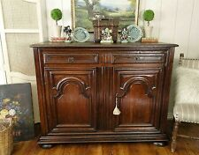 Antique French Buffet Sideboard Server Handsome Mahogany Wood Orig Hardware Key