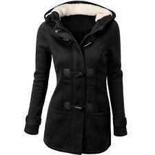 Fashion Women's Windbreaker Wool Outwear Slim Jacket Long Coat Trench Park>L3
