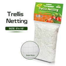 VIVOSUN 1 Pack Garden 5 x 15ft Trellis Netting Plant Support Grow Mesh Net White