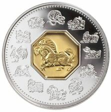 2002 Canada $15 Sterling Silver Lunar Coin - Year of the Horse