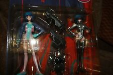 """TWO 6.5 """" Figures Ghost In The Shell WHITE OUT+ HARD DISK  New in sealed Pkg."""