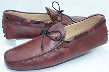 Tod's Men's Must Shoes Loafers Slip On Drivers Size 8 New Gommini Leather NIB