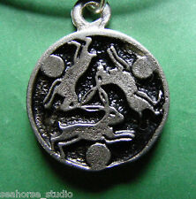 CELTIC HARE TRINITY AMULET Pewter PENDANT & black necklace cord ~ WICCA ~ Pagan